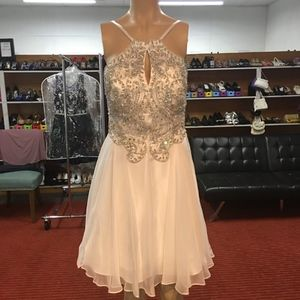 NWT! Dave & Johnny A5231 White Homecoming Dress